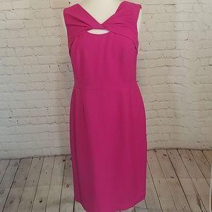 Pink sheath dress with cutout